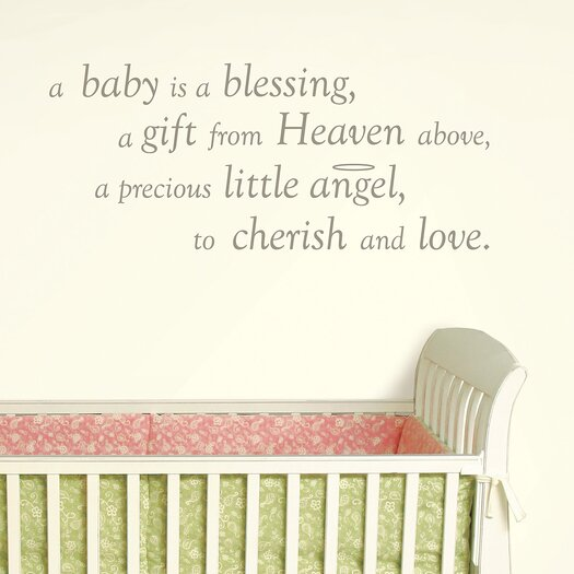 WallPops! Baby is a Blessing Wishes Wall Decal