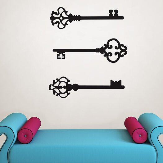 WallPops! Wall Art Kit Keys to My Heart Small Wall Decal