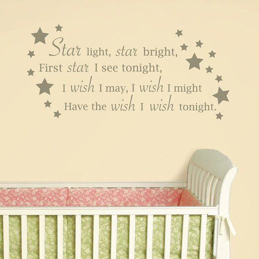 WallPops! Baby Star Light, Star Bright Wishes Wall Decal