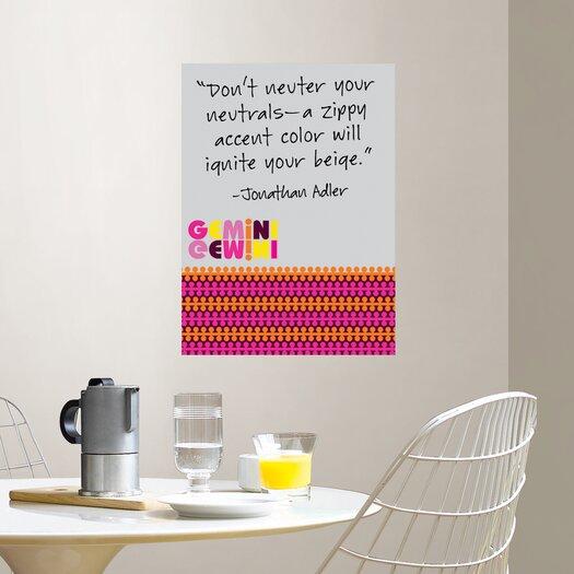 WallPops! Jonathan Adler Gemini Message Board Wall Decal