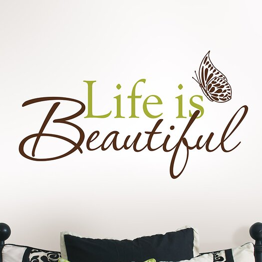 WallPops! Wall Art Kit Life is Beautiful Phrases Wall Decal