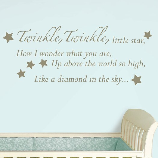 WallPops! Baby Baby Twinkle, Twinkle Wishes Wall Decal