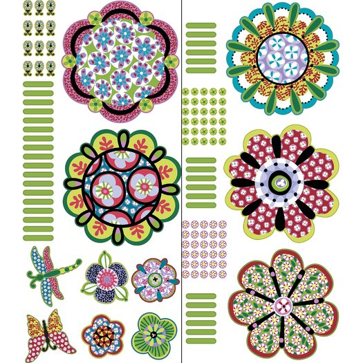 WallPops! WallPops Kits Sheets Flower Power Wall Decal