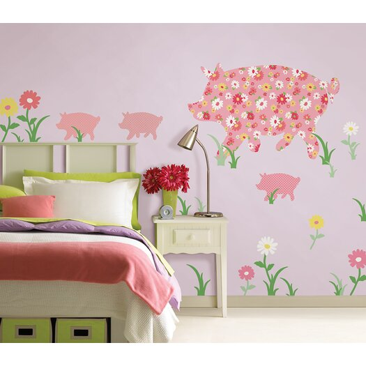 WallPops! WallPops Kits ZooWallogy Scarlett The Pig Wall Decal