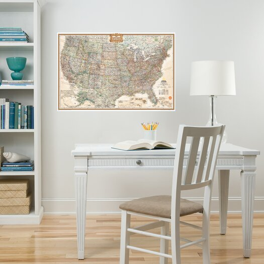 WallPops! Wall Art Kit National Geographic USA Map Wall Mural