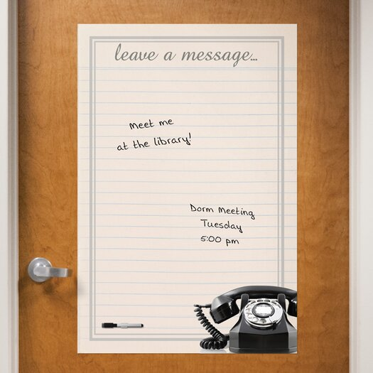 WallPops! Dry Erase Vintage Leave Message Giant Whiteboard Wall Decal
