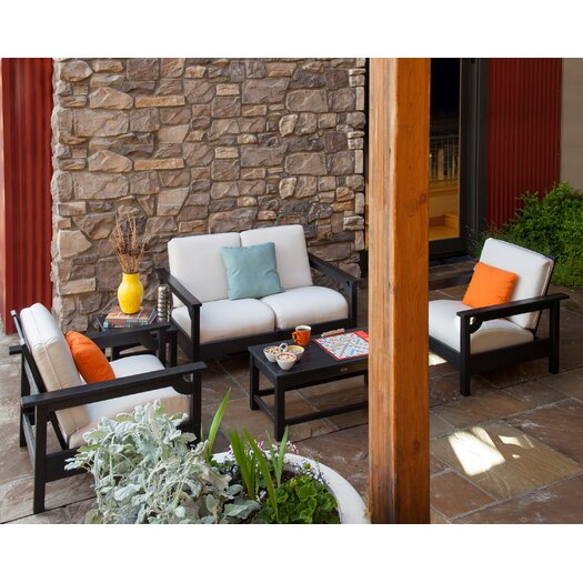 POLYWOOD® Club 5 Piece Deep Seating Group