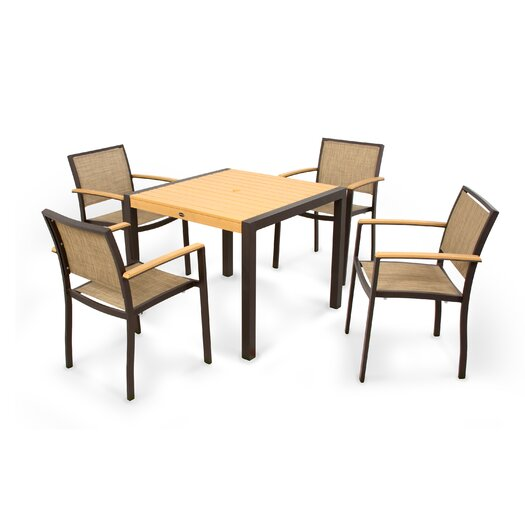 POLYWOOD® Bayline™ 5 Piece Dining Set I