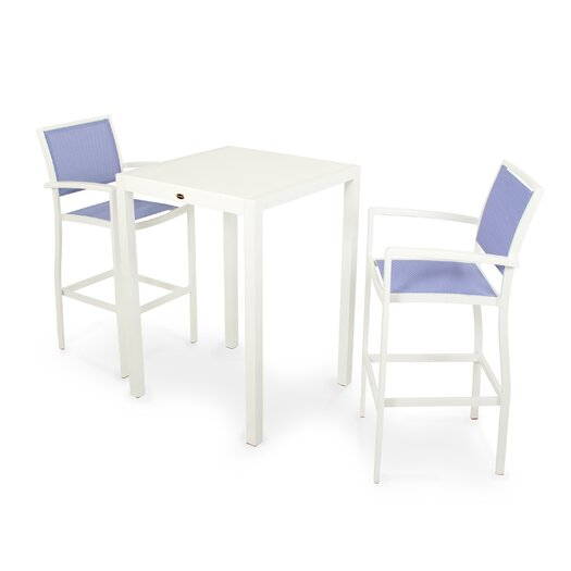 POLYWOOD® Bayline™ 3 Piece Bar Dining Set