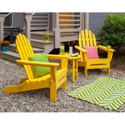 POLYWOOD® Classic 3 Piece Folding Adirondack Seating Group