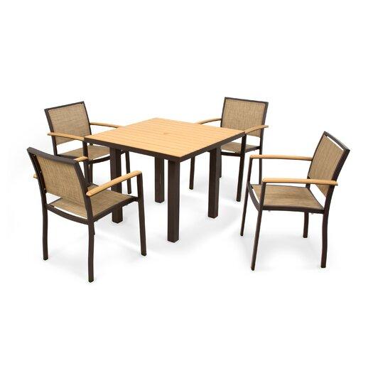 POLYWOOD® Bayline™ 5 Piece Dining Set II