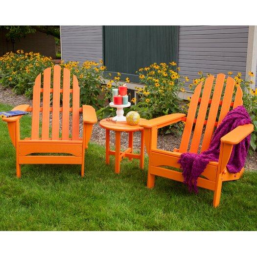 POLYWOOD® Classic 3 Piece Folding Adirondack Seating Group