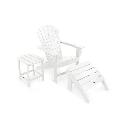 POLYWOOD® South Beach 3 Piece Adirondack Seating Group