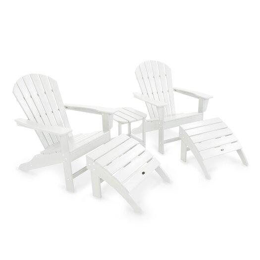 POLYWOOD® South Beach 5 Piece Adirondack Seating Group