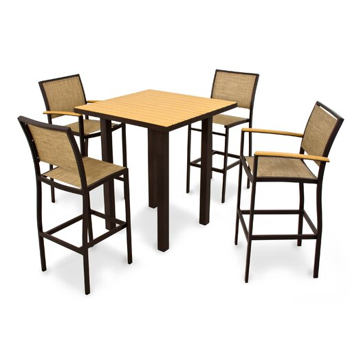 POLYWOOD® Bayline™ 5 Piece Bar Set