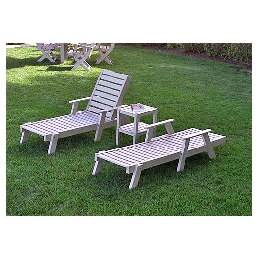 POLYWOOD® Captain 3 Piece Lounge Seating Group