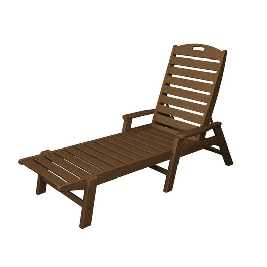 POLYWOOD® Nautical Chaise Lounge