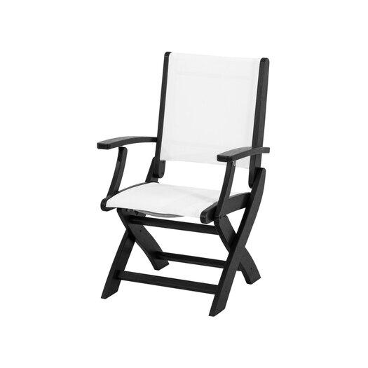 POLYWOOD® Coastal Folding Dining Arm Chair
