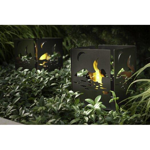 Decorpro Four Series Cottage Steel Bio Ethanol Tabletop Fireplace