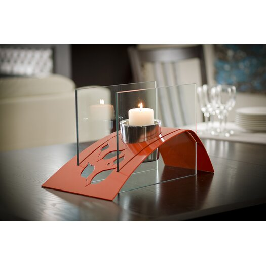 Decorpro Twilight Steel Bio Ethanol Tabletop Fireplace