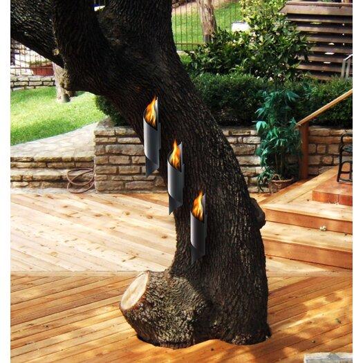 Decorpro Nuvo Wall Mounted Steel Bio Ethanol Outdoor Fireplace