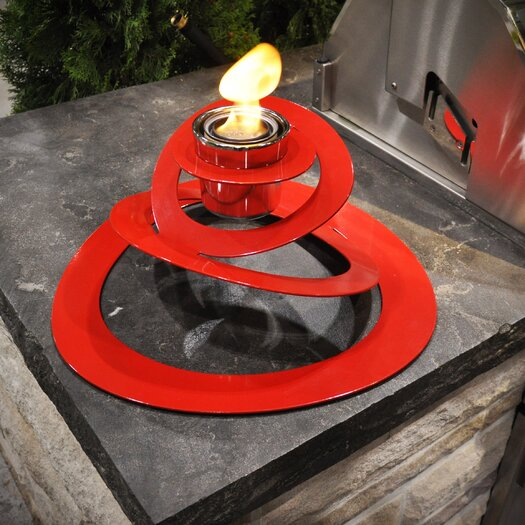 Decorpro Ovia Steel Bio Ethanol Tabletop Fireplace