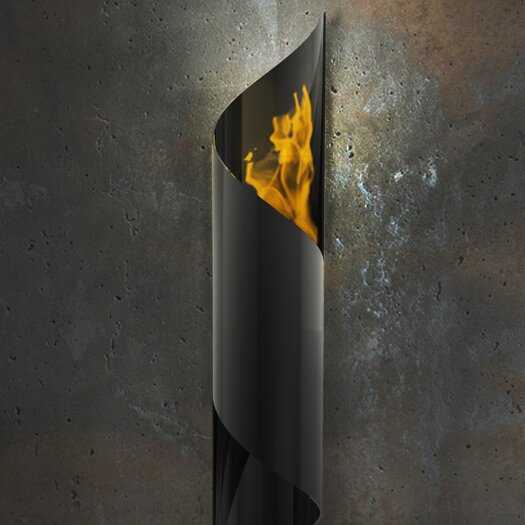 Nuvo Wall Mounted Steel Bio Ethanol Outdoor Fireplace