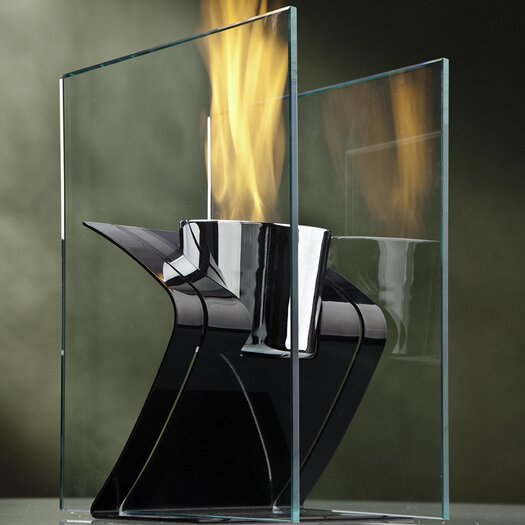 Decorpro Zed Steel Bio Ethanol Tabletop Fireplace