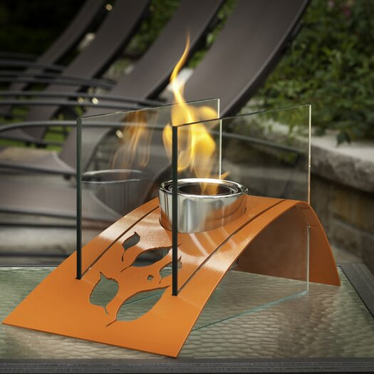 Twilight Steel Bio Ethanol Tabletop Fireplace