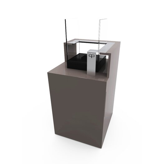Podium Bio Ethanol Fireplace with Storage Unit