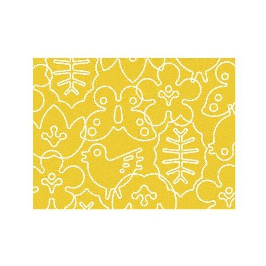notNeutral Season White/Canary Yellow Area Rug
