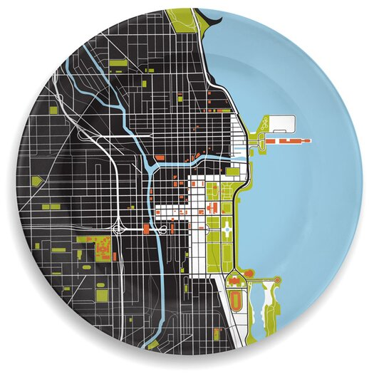 """notNeutral City on a Plate 12"""" Chicago Dinner Plate"""