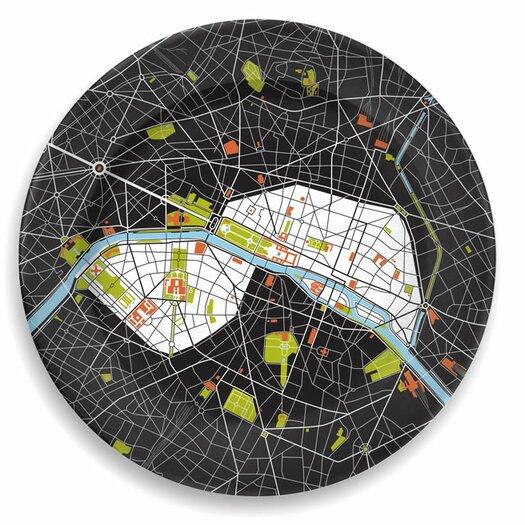 "notNeutral City On A Plate 12"" Paris Dinner Plate"