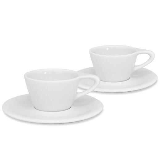 notNeutral LINO 6 oz. Double Cappuccino Cup & Saucer