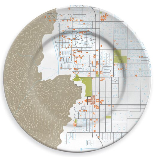 """notNeutral City On A Plate 12"""" Palm Springs Dinner Plate"""