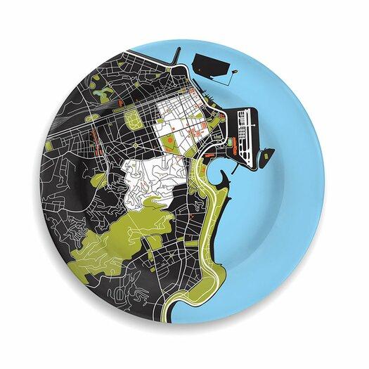 "notNeutral City On A Plate 12"" Rio de Janeiro Dinner Plate"