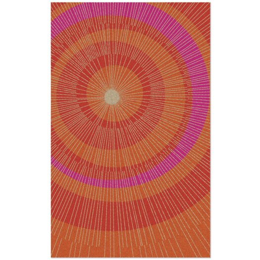 notNeutral Eccentric Orange & Red Area Rug