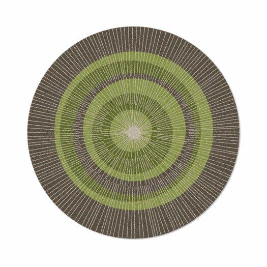 notNeutral Eccentric Green/Sable Area Rug