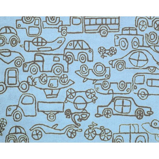 notNeutral Kids Transport Ozone Blue/Sable Area Rug
