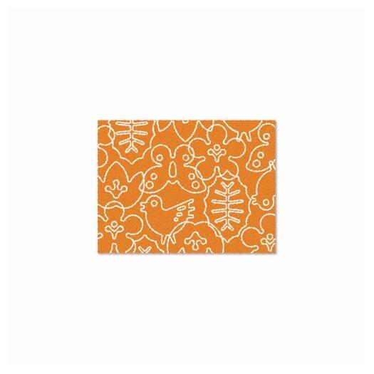 notNeutral Season Persimmon Orange/White Area Rug