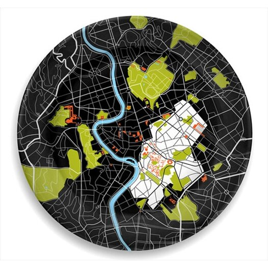 "notNeutral City on a Plate 12"" Rome Dinner Plate"