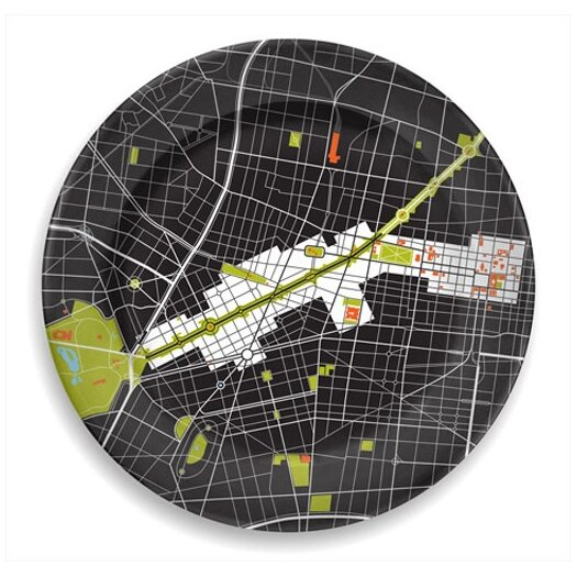 """notNeutral City on a Plate 12"""" Mexico City Dinner Plate"""