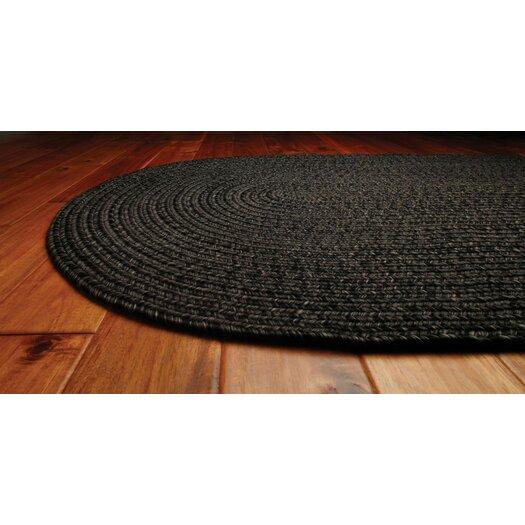 Homespice Decor Ultra-Durable Black Solid Indoor/Outdoor Area Rug