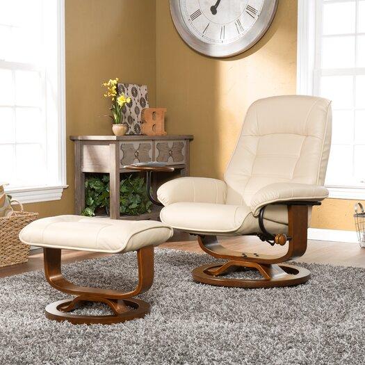 Wildon Home ® Shaw Ergonomic Recliner & Ottoman Set