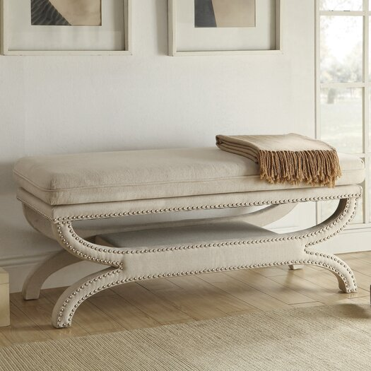Wildon Home Upholstered Storage Bedroom Bench: Wildon Home ® Upholstered Bedroom Bench