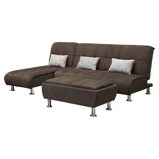 Wildon home convertible chaise allmodern for Chaise convertible