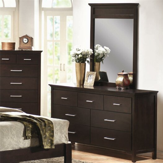 Wildon Home ® Morgan 7 Drawer Dresser with Mirror