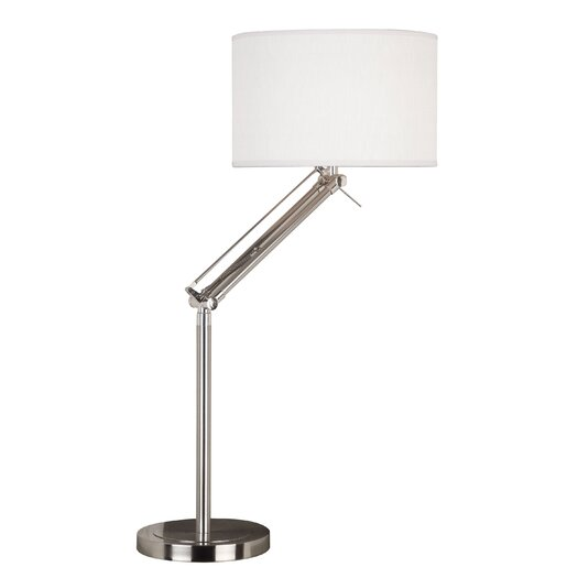 """Wildon Home ® Hydra 35"""" H Table Lamp with Drum Shade"""