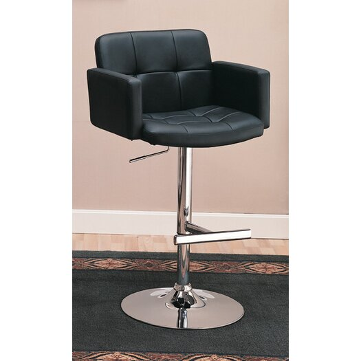 Wildon Home ® Colorado City Adjustable Height Swivel Bar Stool with Cushion