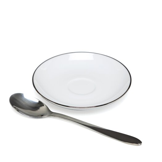 """Alessi Mami Platinum 4.3"""" Saucer for Mocha Cup"""